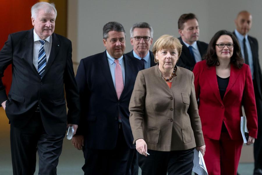 Angela Merkel, Nahles, Siegmar Gabriel